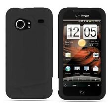 Silicone Skin Case for HTC Droid Incredible - Black