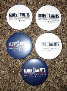 2014 Phoenix Mercury pinback button lot Glory Awaits WNBA Playoffs Championship