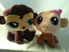 2 Littlest Pet Shop Monkey Plush 1 is Bobblehead 1 is Stitch Embroidery Fabric