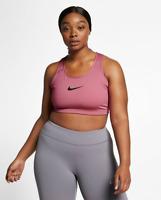 NEW Nike Women's Swoosh Medium-Support Sports Bra Black Plus Size 1X 3X  $60