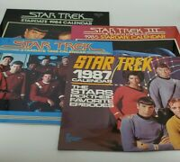 "Star Trek Stardate 4 Calenders lot From 1984-1987 12""x 13""  Excellent Condition"