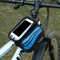 Cycling Bike Bicycle Frame Front Top Tube Bag Phone Pouch Case Holder S4E8