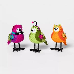 Set 3 Ghoulish Garden Fabric Halloween Bird Hyde & Eek Boutique Target Figurines