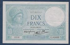 FRANCE - 10 FRANCS MINERVE Fayette n° 7.26 du 2=1=1941.LG  en TTB  U.82855 258