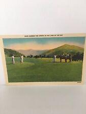 1930's Asheville NC Linen Postcard - Unused - Excellent Cond-Golf