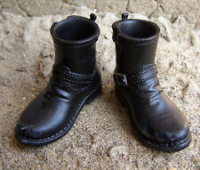 1/6 Modern Military Combat War Correspondent Shoes Blk Leather Boots Model F 12""