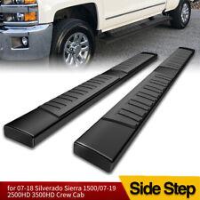 for 07-18 Chevy Silverado Crew Cab Black Side Steps 6