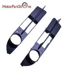 Pair 2003-07 BMW E60 E61 NON-SPORT Fog light Grille Front Bumper Covers Set