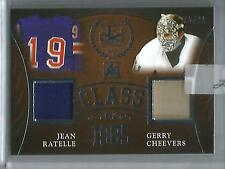 Jean Ratelle-Gerry Cheevers 2016 Leaf Enshrined Game Used Jersey #15/25