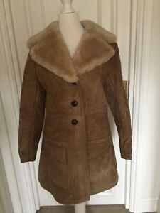 Ashtar Of London Sheepskin Coat Size Small