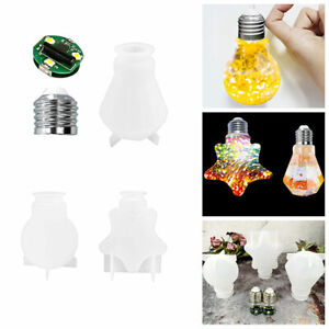 Light Bulb Mold Resin Crystal Casting Mold Silicone Making Epoxy Mould Craft DIY