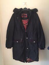 Ladies PER UNA M&S Water Repellent Black Warm Padded Winter Coat, Size S