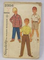 Vintage Simplicity Sewing Pattern #2356 Shirt and Pants for Young Boy Size 4