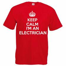 KEEP CALM I'M AN ELECTRICIAN - Electrics / Sparky / Novelty Themed Mens T-Shirt