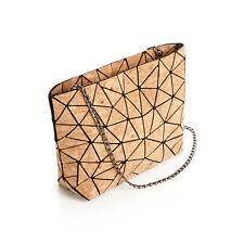 Orchid Bay Women's Geometric Cork Handbag,  Vegan Purse, Shoulder Crossbody Bag