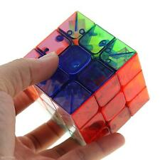 Magical 3x3x3 Speed Transparent Crystal Magic Cube Twist Puzzle Toy Xmas Gift