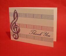 Music Thank you Card Music Teacher Student End Of Term Clef & Stave Design