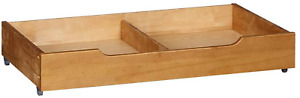 MUSEHOMEINC Solid Wood under Bed Storage Drawer with 4-Wheels for Bedroom,Wooden