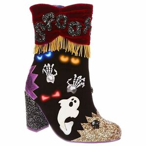 Who's There? Irregular Choice Halloween Boots Heels Light Up Eyes Shoes