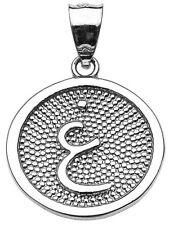 """White Gold Arabic Letter """" ayn """" G Initial Charm Pendant"""