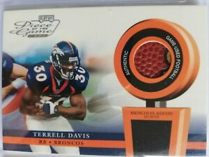 Terrell Davis HOF Playoff Piece of the Game 2002   Game Used BALL