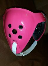 Matman Two Strap Headgear, Pink with white chin strap