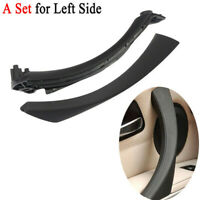 Black For BMW 3 Series E90 Pull Trim Cover+Inner Bracket Left Side Door Handle