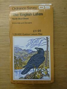 Outdoor Leisure Map The English Lakes North West Ennerdale Derwent OS 1974