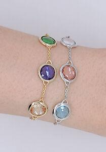100% Auth SWAROVSKI Gold Rhodium Tahlia Multicolored Bracelet 5565550 5560937