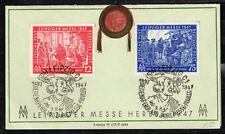 Germany Leipzig Messe 400 Ann Postcard 1947 rare Postmarks
