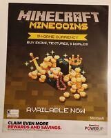 Minecraft Gamestop Promo Poster. Rare.