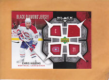 CHRIS HIGGINS 2007 08 BLACK DIAMOND JERSEY # BDJ-CH MONTREAL CANADIENS