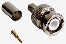 BNC Plug Crimp onType For RG 58 Cable Etc Pack 8