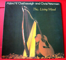 Maire Ni Chathasaigh Chris Newman Living Wood UK LP+SIGNED INS. Black Crow VINYL