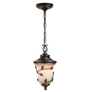 Exterior Outdoor Pendant LEAF Ceiling Hanging Lantern Light Lighting Oil BRONZE