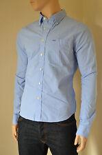 Nueva Abercrombie & Fitch Kilburn Montaña Azul microstripe Stripe Camisa S RRP £ 82