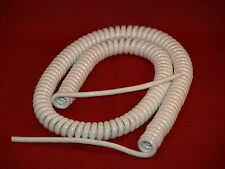 KALESTEAD CURLY COILED MAINS CABLE,(6 AMP) PVC/PUR WHITE ,CLOSED LENGTH 1000MM