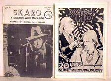 Lot of 2 Vintage Doctor Who Fanzine-UK-Skaro/20th Anniv