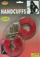 Red Fluffy Handcuffs (toy) Hand Cuffs