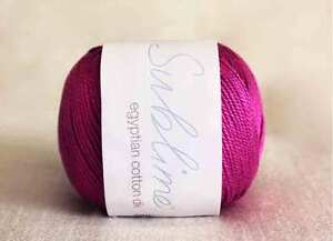 Sublime Egyptian Cotton DK  OUR PRICE £3.75