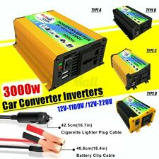3000W-6000W Sine Wave Converter DC 12V to AC 110V/220V Car Solar Power