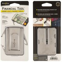 Nite Ize Stainless Steel 6 in 1 Financial Pocket Tool + Money Clip MCMT-11-R7