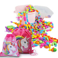 Pop Beads DIY Jewelry Making Kit for Kids 550 PCS  - Bonus UNICORN TOTE Bag