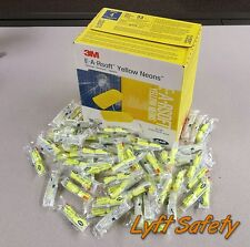 3M Ear Plugs E-A-Rsoft Noise Reduction 33dB Yellow Neon Foam Disposable PICKSIZE