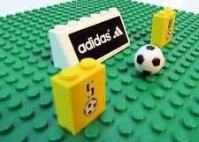 Lego Sports Soccer Ball with Adidas Banner and Yellow Brick Futbol