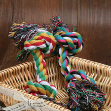1Pcs Puppy Dog Fun Pet Chew Knot Toy Cotton Braided Bone Rope Color Handmade