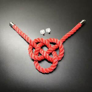 1Pcs Auto Rearview Mirror Lucky Charms Red JDM JP Kintsuna Rope Luxury Pendants
