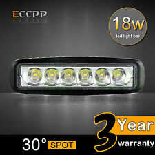 6Inch 18W LED WORK LIGHT BAR SPOT DRIVING OFFROAD TRUCK SINGLE ROW 4WD 4x4 UTE