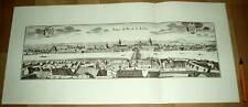 Dresden alte Ansicht Merian Druck Stich 1650 (schw)