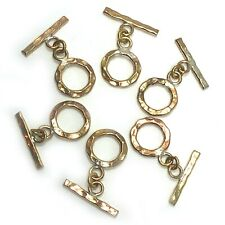 Brass Toggle Clasp Closer Hammered Nepal Handmade Wholesale Lot 6pcs  CLB01b
